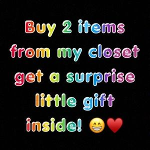 Buy 2 items and get a small gift inside❗️❗️